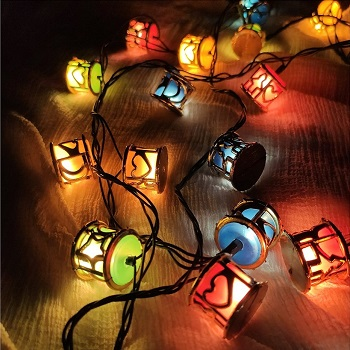 Heart Shaped Designs Decorative Fairy String Lights, Love Designs Led Decoration Round Box Lights, Led dhool Shaped String Lights for indoor outdoor wedding party decoration